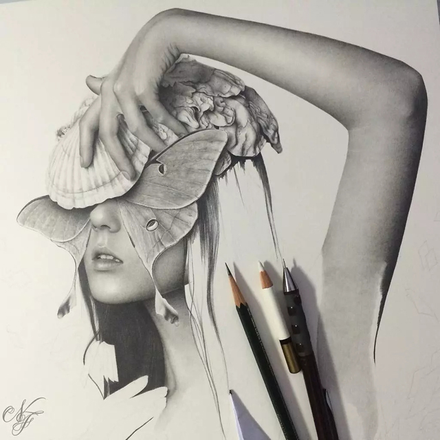服装设计网 教程 时装画/手绘技巧     一组精致细腻的 手绘作品