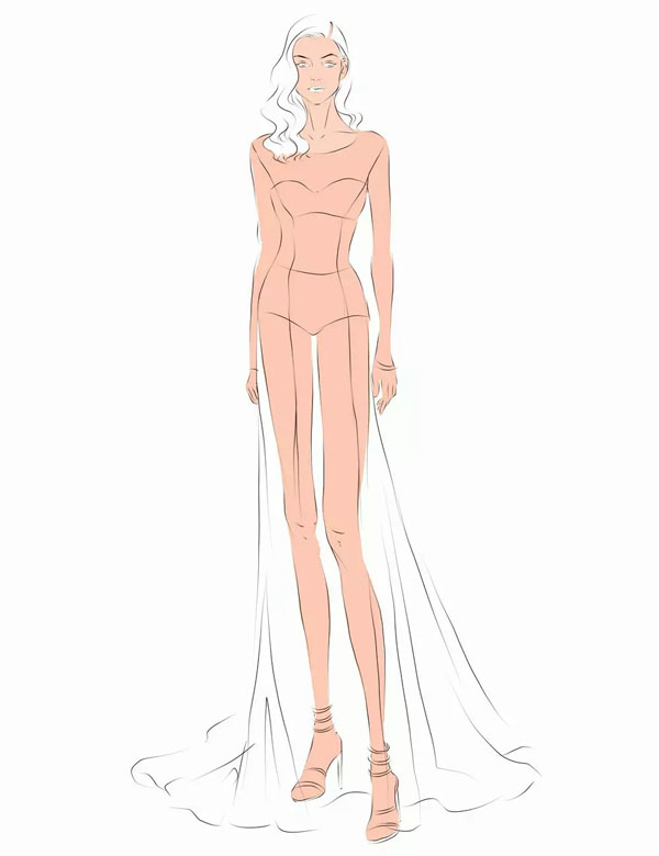 服装设计网 教程 时装画/手绘技巧  来源:新浪微博@马西图
