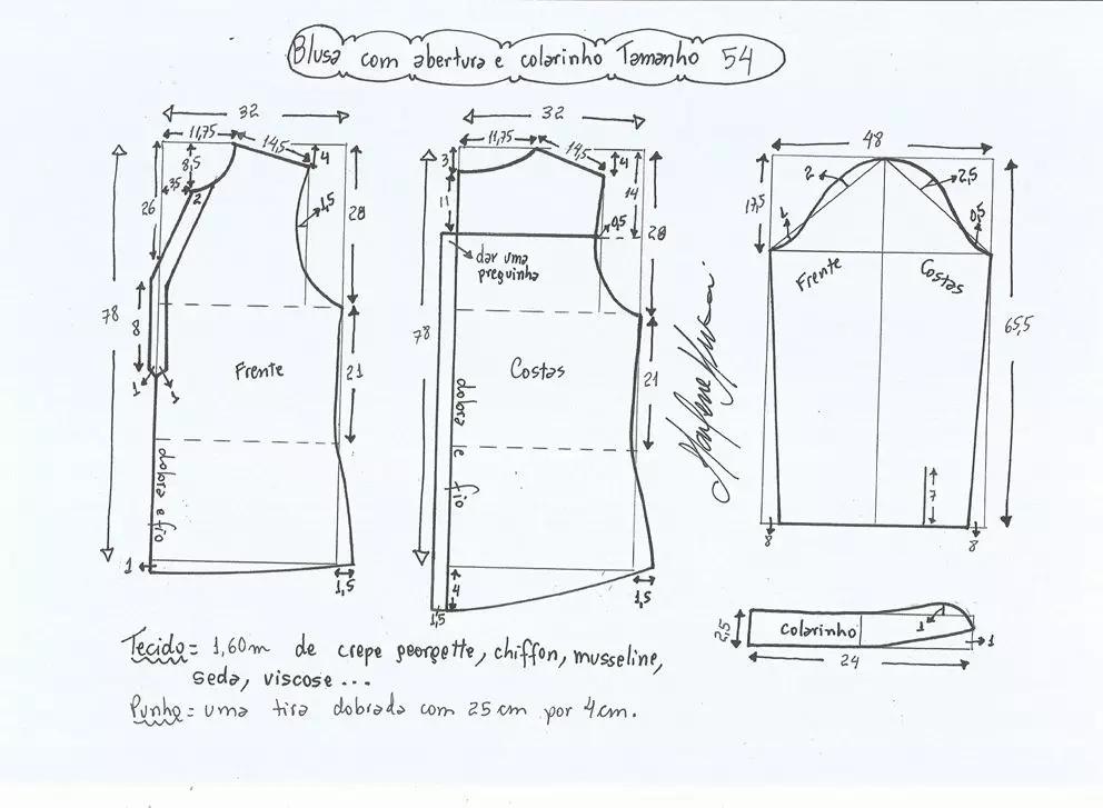 11张小v立领衬衫的图纸整理-服装服装设计-服装设计网图片