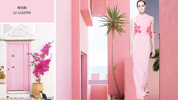 淡粉色墙配窗帘效果图