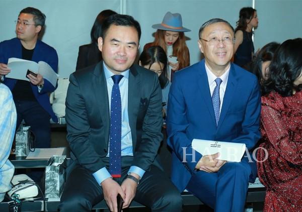 △中国设计师协会主席张庆辉、副秘书长郎平