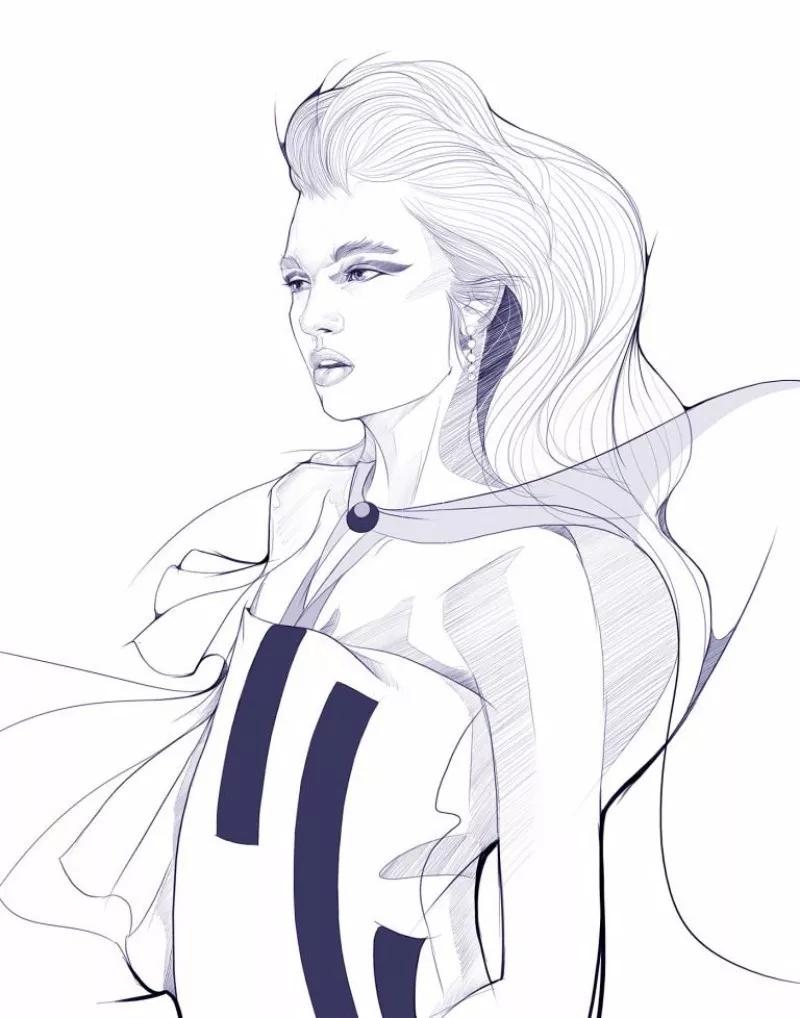 服装设计网 教程 时装画/手绘技巧  来源:苏打苏塔设计量贩铺 《evens