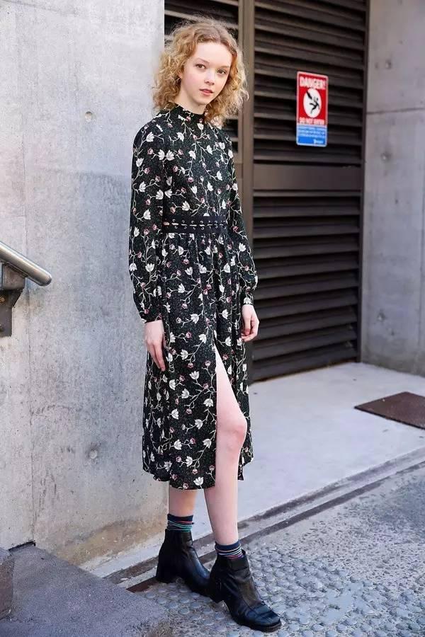 今春最流行的印花裙,Saslax莎斯莱思女装分分钟让人心动不已!(图3)