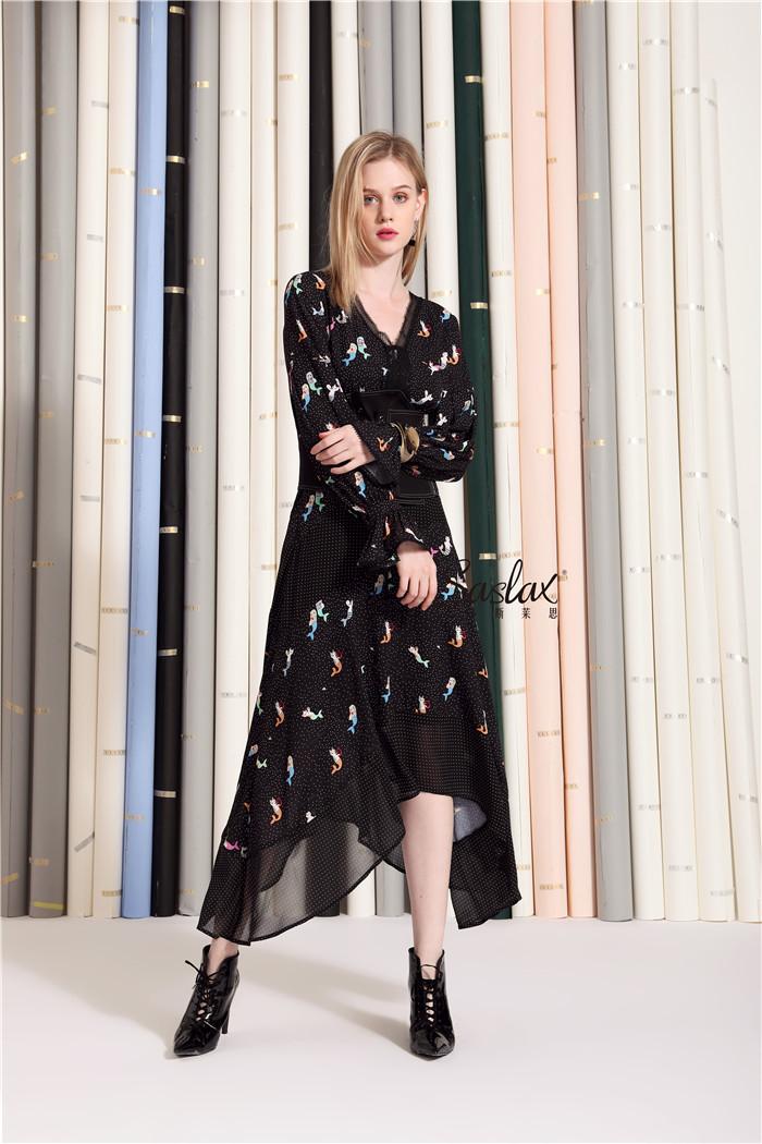 今春最流行的印花裙,Saslax莎斯莱思女装分分钟让人心动不已!(图6)