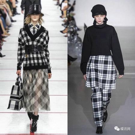 2019/20秋冬图案流行趋势分析:格纹-服装趋势预测