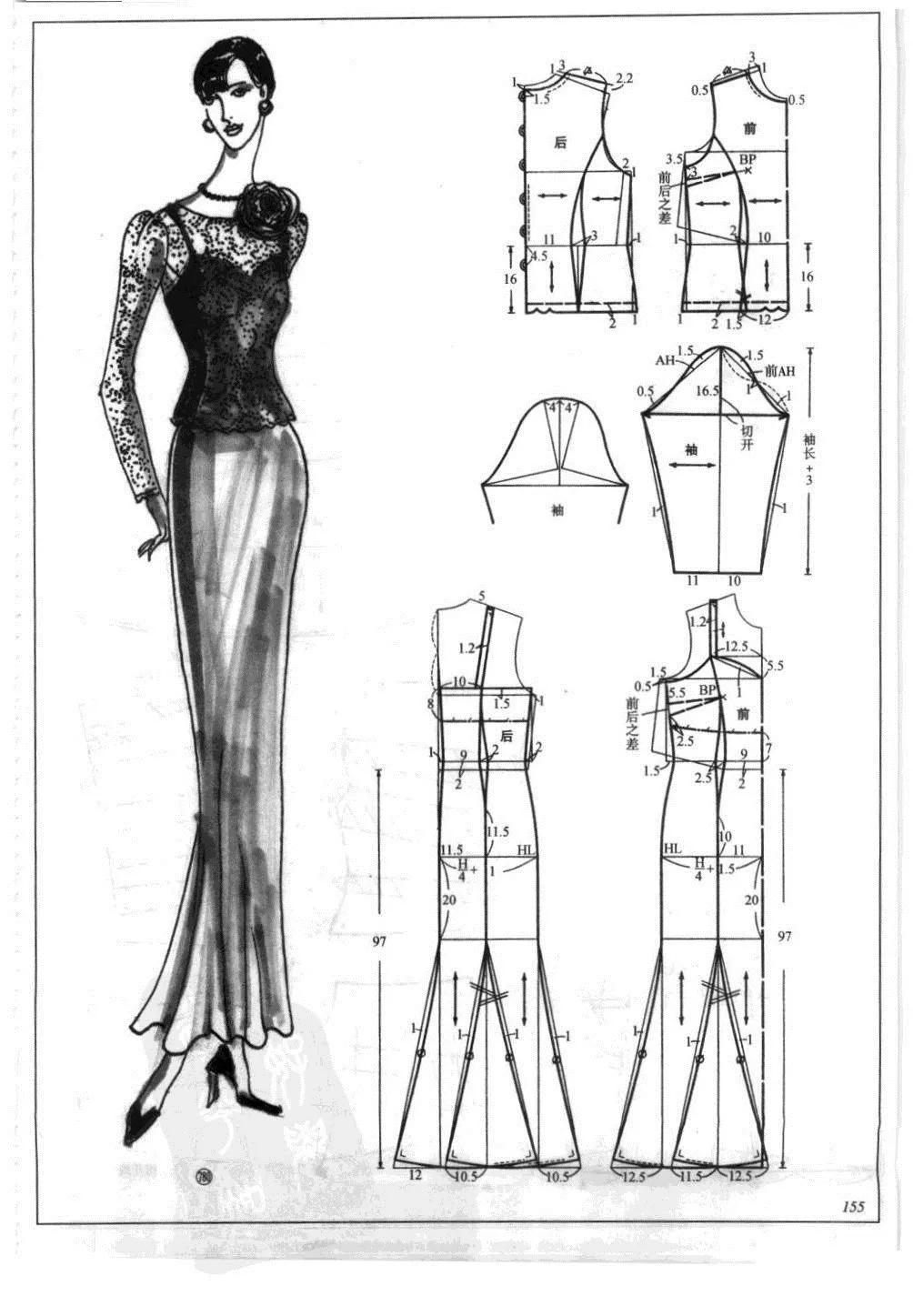 服装排版技巧_纸样分享丨连衣裙+中式服装的图纸资料整理-制版技术-服装设计 ...