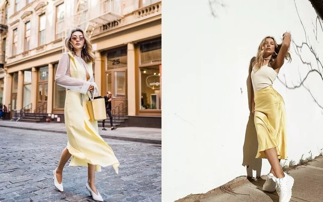还在穿黑白灰?奶蜜黄色才是2019春夏最美流行色啊!(图20)