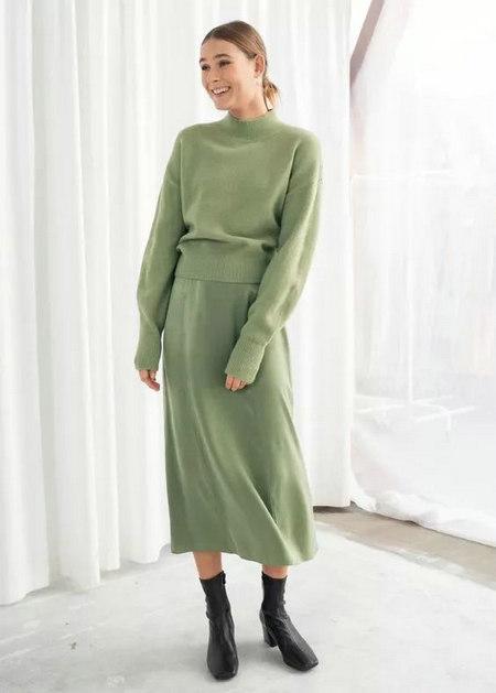2019秋冬女装流行趋势 果绿色穿搭 让你与众不同(图8)
