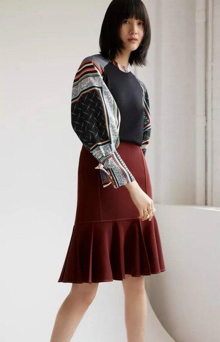女装单品流行趋势 喇叭半身裙,尽显你的女人魅力(图21)