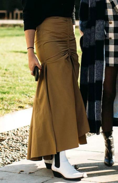 女装单品流行趋势 喇叭半身裙,尽显你的女人魅力(图6)