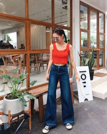 夏季女生怎么穿显腿长?试试平底鞋 + 网红裤的搭配(图9)