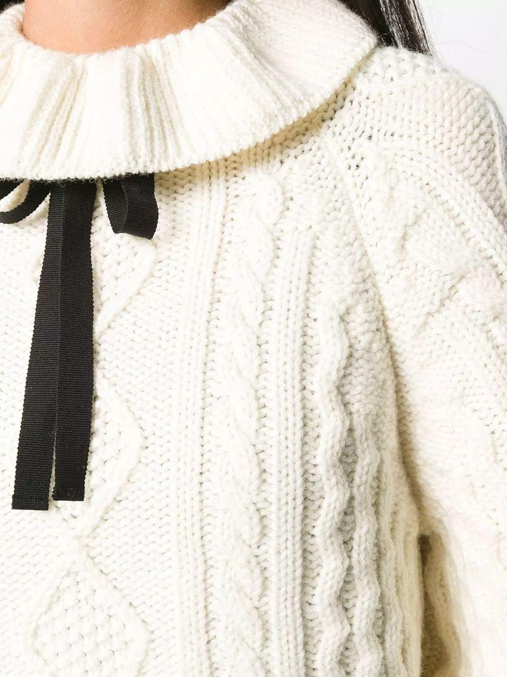 细腻 从多变的领间设计,看女装毛衫工艺趋势(图7)