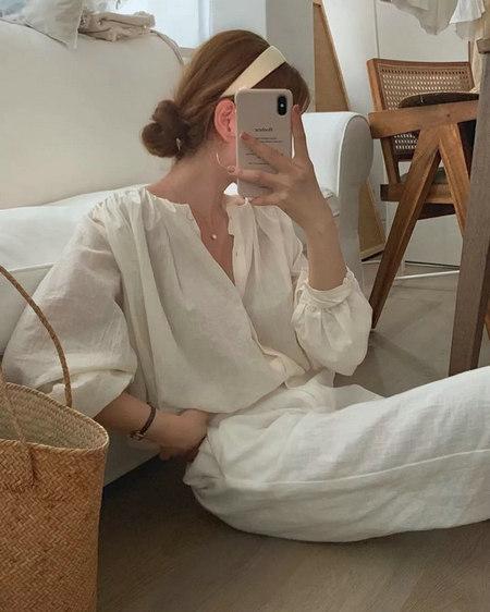 衬衫+奶奶裤,秋天超慵懒时髦风穿搭(图17)