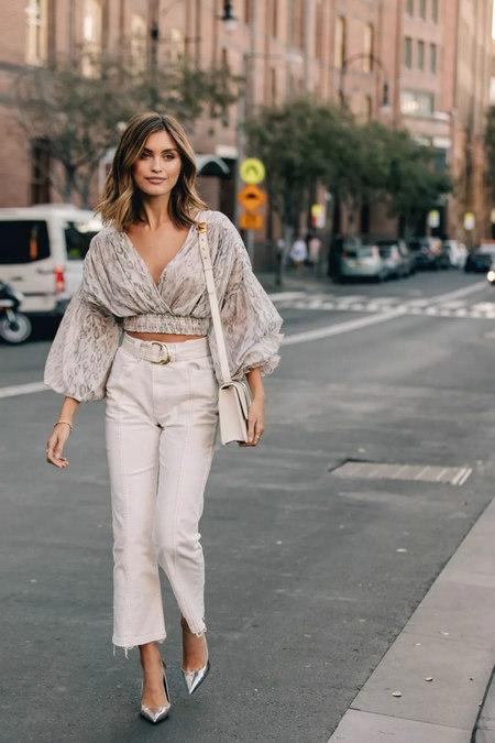 衬衫+奶奶裤,秋天超慵懒时髦风穿搭(图47)