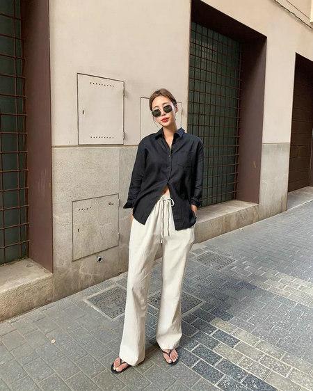 衬衫+奶奶裤,秋天超慵懒时髦风穿搭(图27)