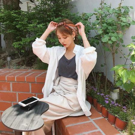 衬衫+奶奶裤,秋天超慵懒时髦风穿搭(图37)