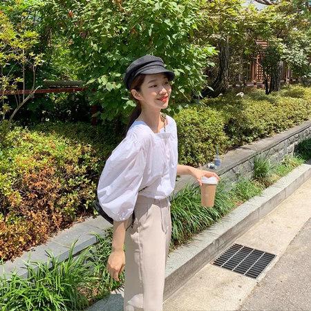 衬衫+奶奶裤,秋天超慵懒时髦风穿搭(图62)