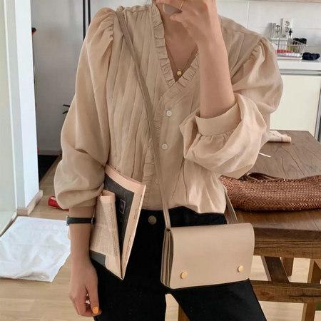 衬衫+奶奶裤,秋天超慵懒时髦风穿搭(图65)