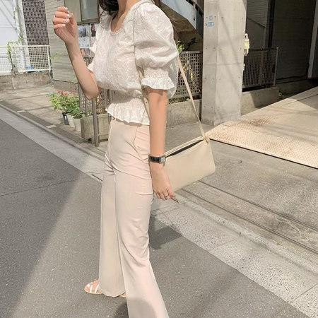 衬衫+奶奶裤,秋天超慵懒时髦风穿搭(图63)