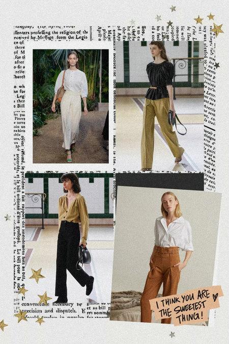 衬衫+奶奶裤,秋天超慵懒时髦风穿搭(图2)