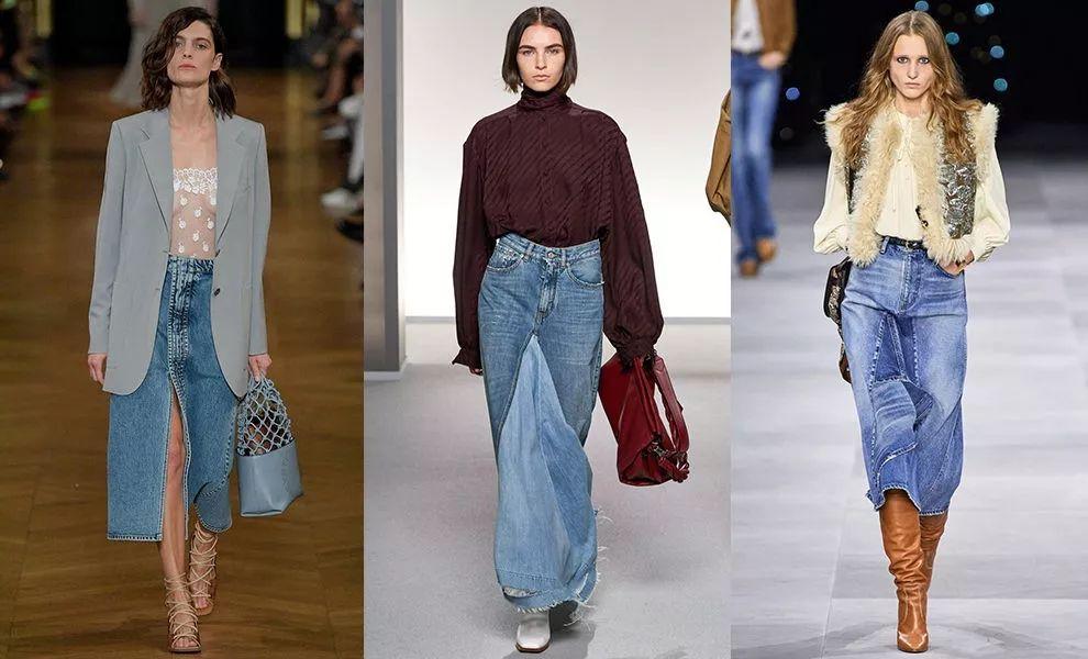 单品趋势 2019秋季与2020春季牛仔长裙成为流行单品(图2)