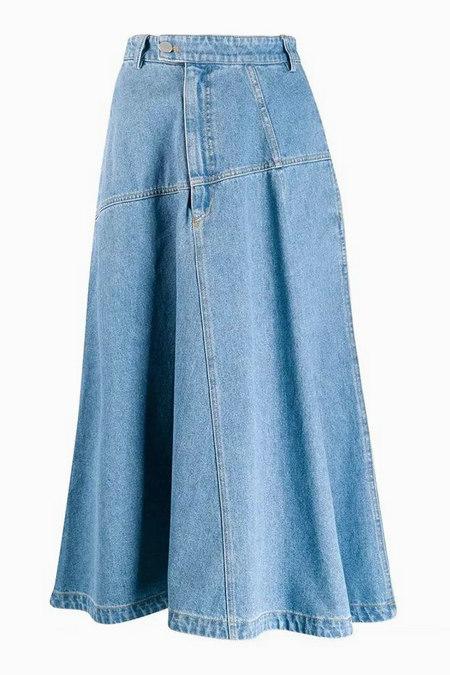 单品趋势 2019秋季与2020春季牛仔长裙成为流行单品(图10)