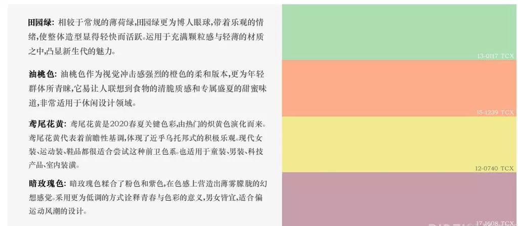 色彩趋势分析 2020春夏女装关键色彩趋势(图2)