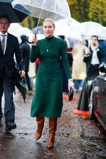 针织连衣裙 秋冬舒适的女装单品流行趋势(图22)