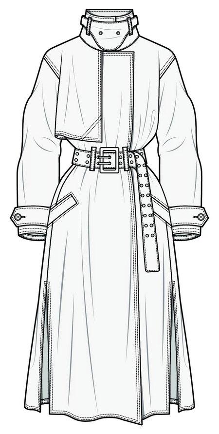 改良风衣 2021春夏女装核心夹克(图15)