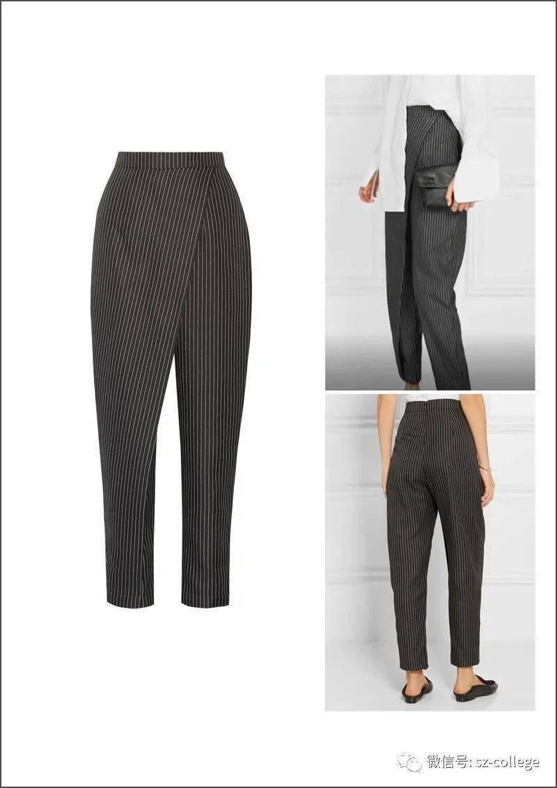 服装排版技巧_制版丨非对称低裆锥形裤子-制版技术-服装设计教程-CFW服装设计