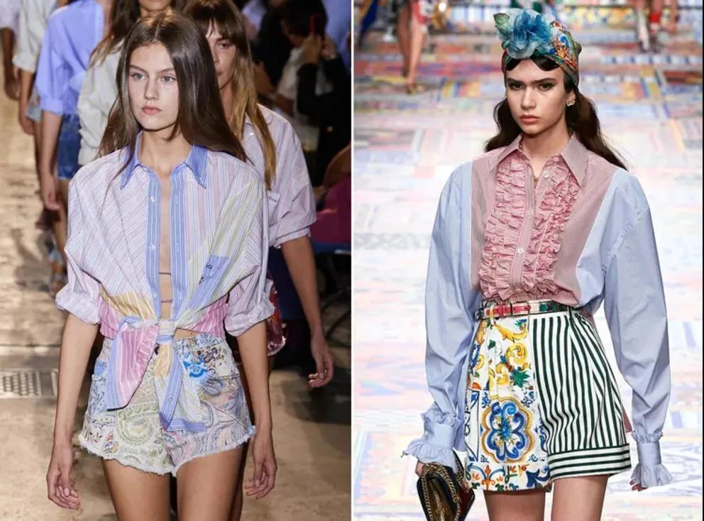 2021春夏女装流行趋势 拼接衬衫是今年春季的大趋势(图1)