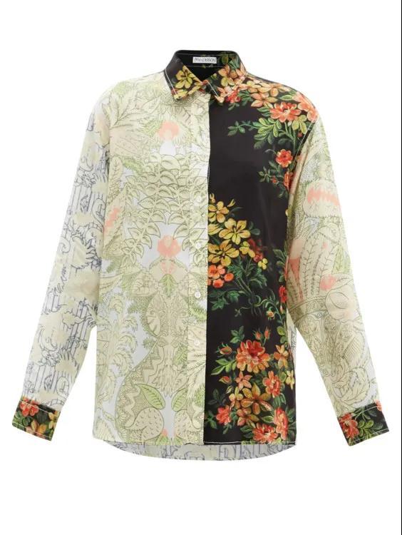 2021春夏女装流行趋势 拼接衬衫是今年春季的大趋势(图10)
