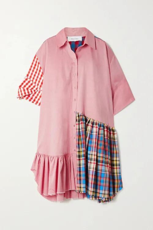 2021春夏女装流行趋势 拼接衬衫是今年春季的大趋势(图14)