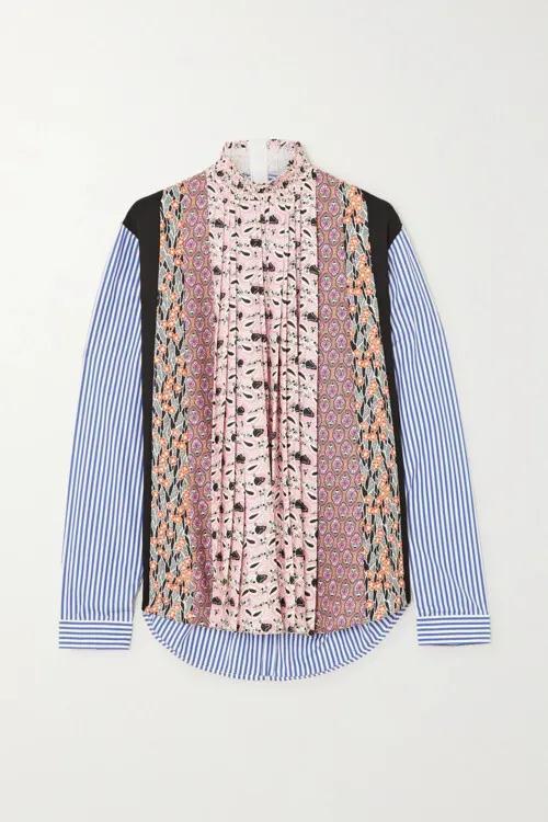 2021春夏女装流行趋势 拼接衬衫是今年春季的大趋势(图9)