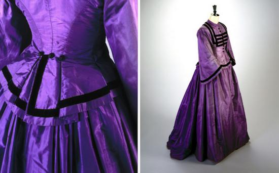 用苯胺紫染成的丝绸礼裙 图片来源:artsy.com