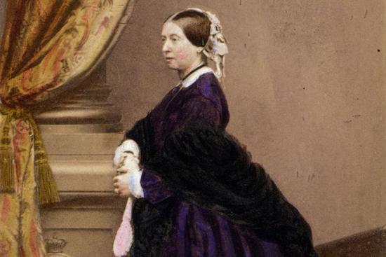 维多利亚女王身穿用苯胺紫染成的衣服 图片来源:i-dyllic