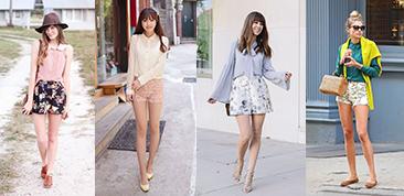 春夏花朵短裤的时尚搭配技巧LOOK