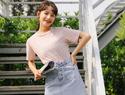 夏天+韩范+牛仔裙+T恤, 炎炎夏季里的一股清流