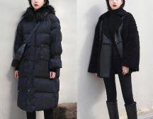 终于找到黑色棉外套的搭配方法,最实用的百科全书,显瘦又气质