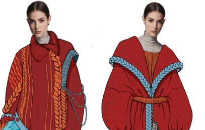 附效果图 第十三届中国(大朗)毛织服装网上设计大赛100强新鲜出炉