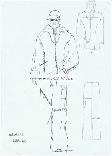 草图-男装设计-服装设计