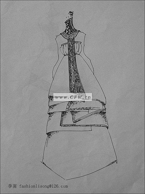 线描搞-女装设计-服装设计