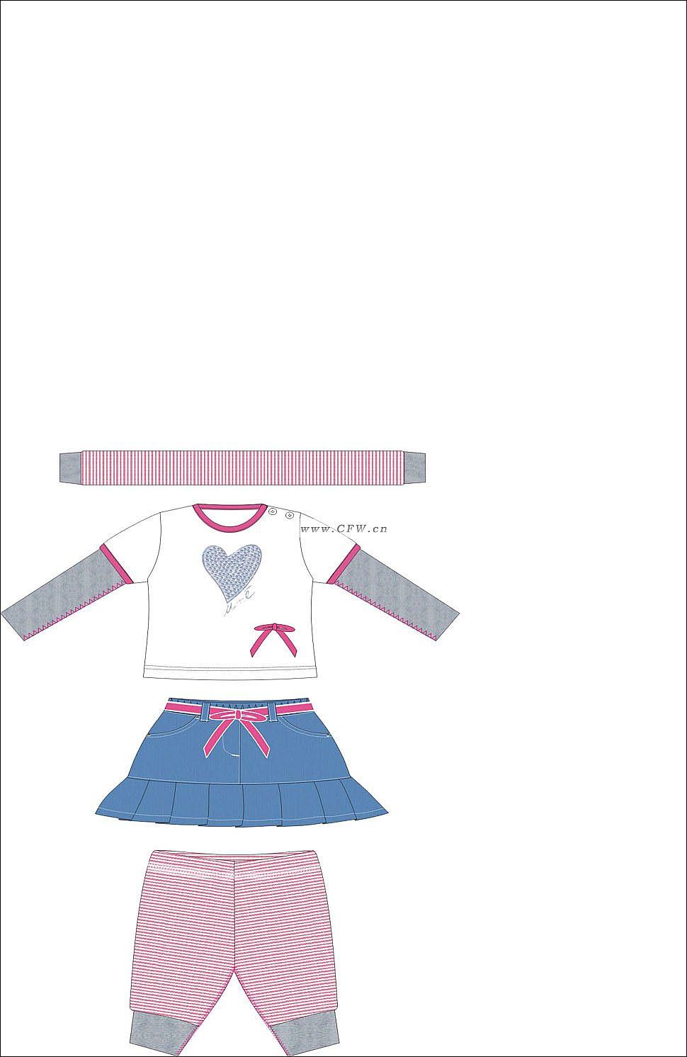 童装设计-童装设计图-童装款式效果图-童装设计师手稿