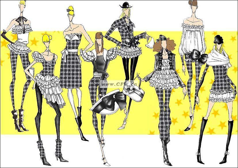服装设计大赛效果图-服装设计大赛款式图-服装设计