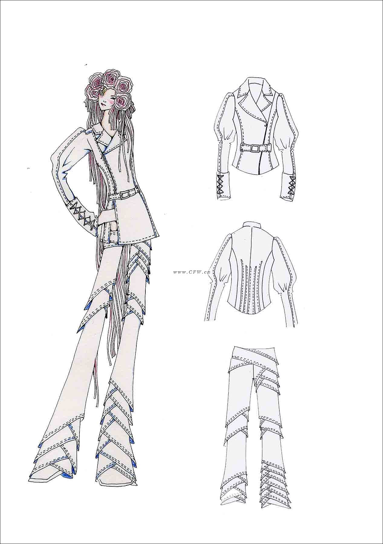 休闲 时尚-女装设计-服装设计