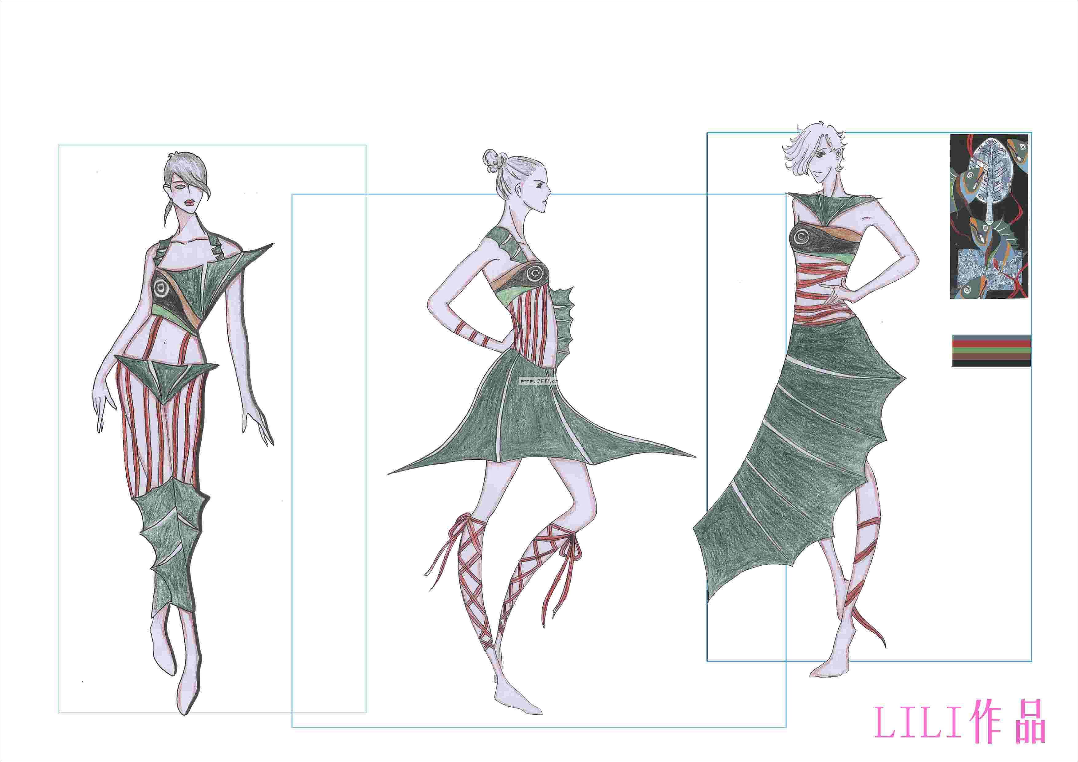 迷鱼之裳-女装设计-服装设计