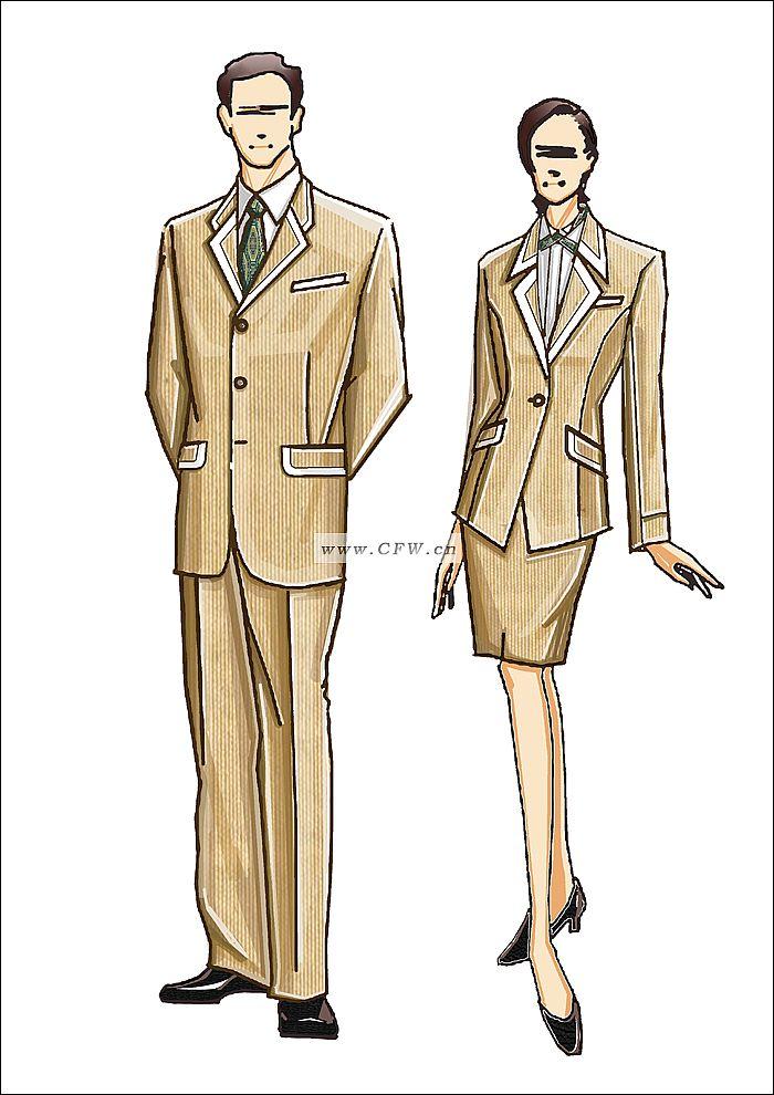 制服-职业服装设计-服装设计