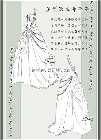 礼服立体裁剪2-婚纱礼服设计-服装设计