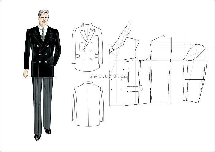 西服-男装设计-服装设计