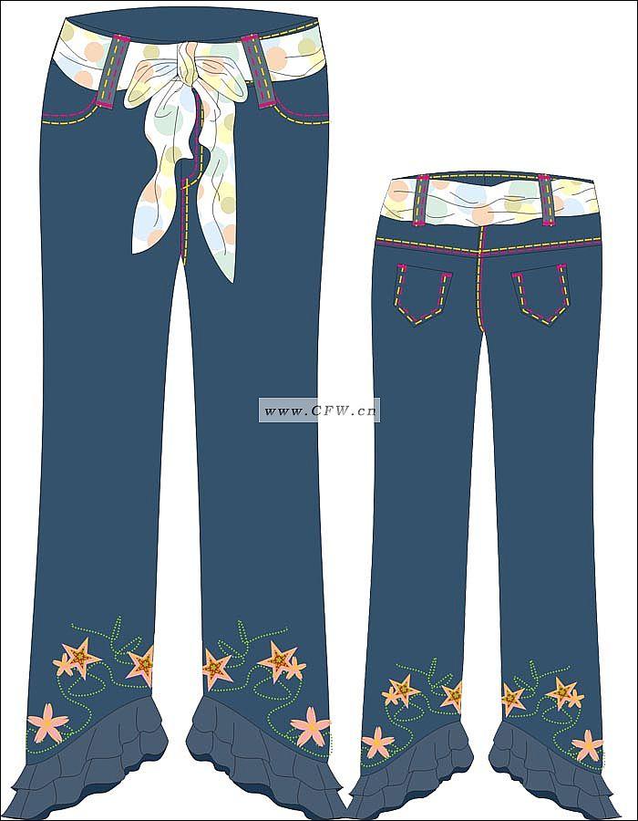 童装牛仔设计-童装牛仔设计图-童装牛仔款式效果图-师